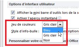 Changer La Couleur Dinterface De MS Office 2007 2010 Et 2013
