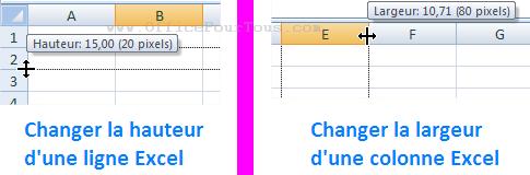 Changer la hauteur des lignes et la largeur des colonnes - Comment faire une ligne sur open office ...