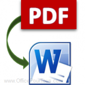 Word - Convertir un fichier PDF en document Word