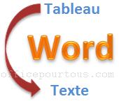 Convertir un tableau en texte dans Word