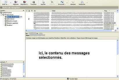Image d'un Exemple MS Outlook