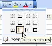 Outil Bordures - Excel